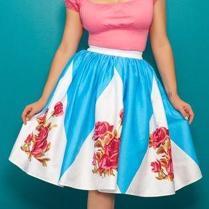 BNWT Rose Border Jenny Skirt-Pinup Girl Clothing